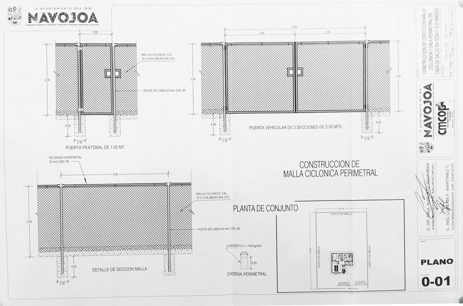 H ayuntamiento de navojoa for Malla de construccion